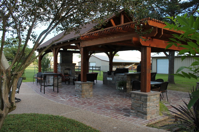 Pavilion In Spring TX Rustic Patio Houston By