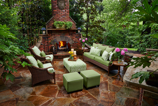 patio designs with a fire pit