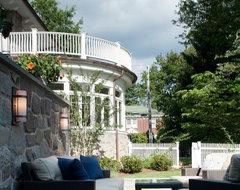Pelham Shingle Style for a Modern Family modern-patio