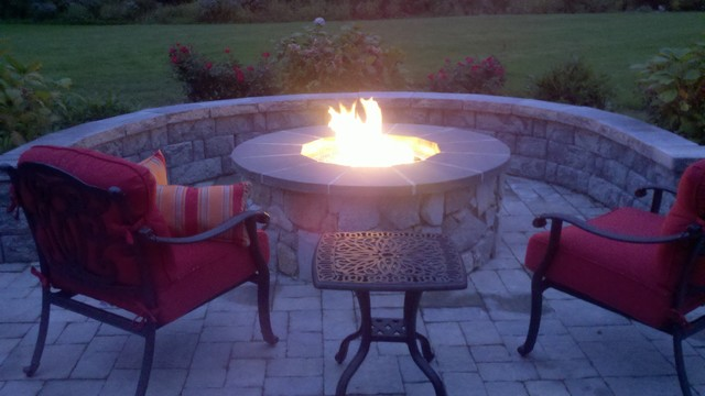 Pembroke outdoor living / fire pit traditional-patio