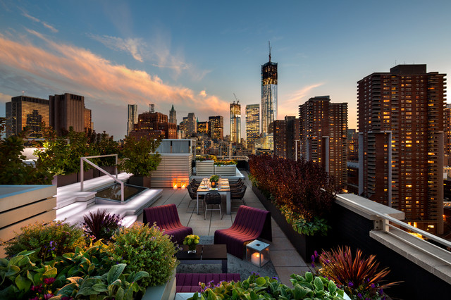 Modern patio decorating ideas - Tribeca Penthouse Amp Roof Garden