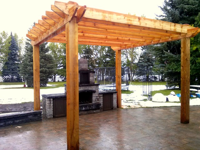 Pergola And Outdoor Bbq Area