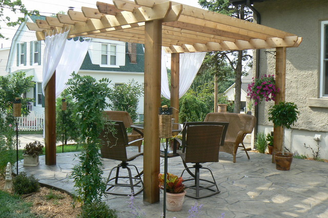 Pergola and stamped patio for 25 ladue terrace