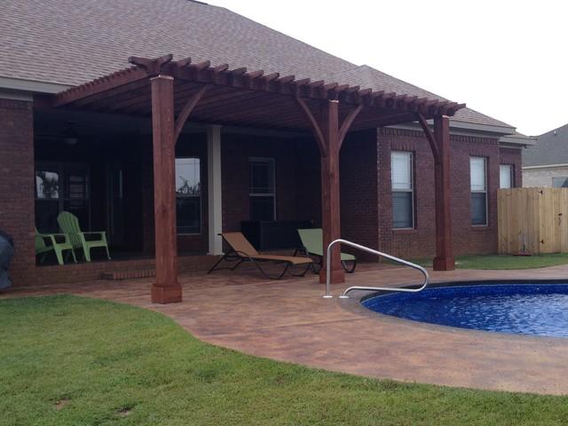 Pergola Attached to Header craftsman-patio