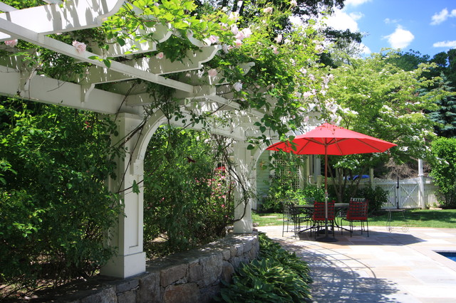Pergola by the Patio traditional-patio