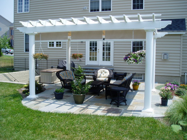 Pergola Backyard Designs : PergolaGazebo traditionalpatio