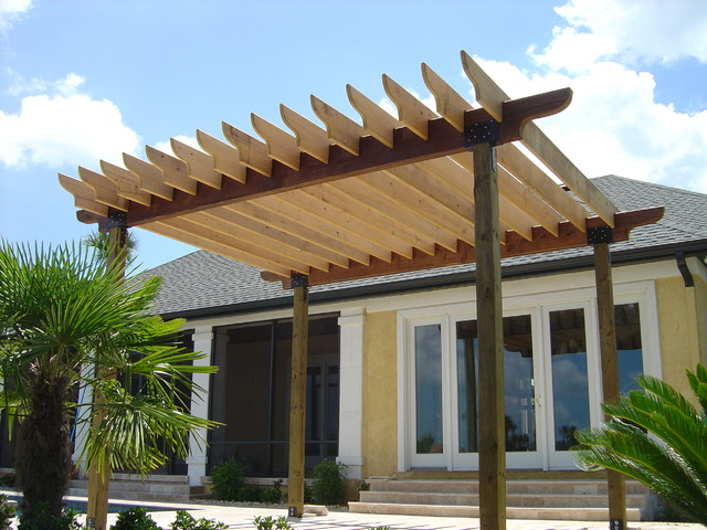 pergola mediterranean patio jacksonville by kapple. Black Bedroom Furniture Sets. Home Design Ideas