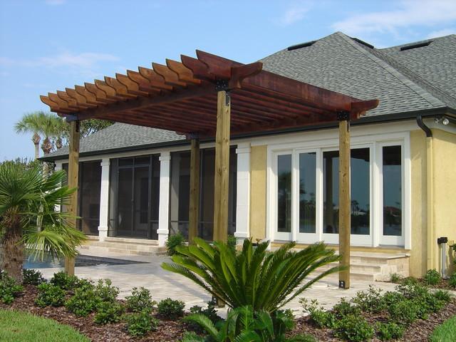 pergola mediterranean patio jacksonville by kapple. Black Bedroom Furniture Sets. Home Design Ideas
