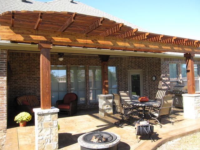 Pergola keller tx traditional patio dallas by for Dallas outdoor kitchens