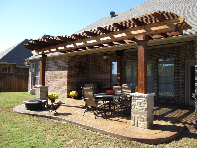 Example of a classic patio design in Dallas - Pergola - Keller, TX - Traditional - Patio - Dallas - By Dallas
