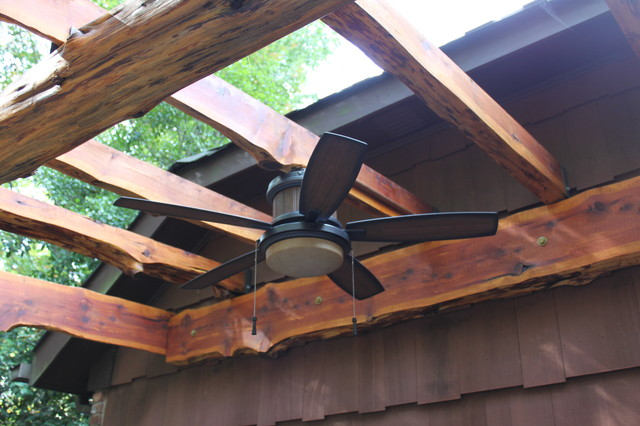 Pergola Outdoor Fan Traditional Patio New York By