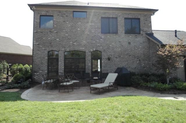 Pergola outdoor fireplace traditional-patio
