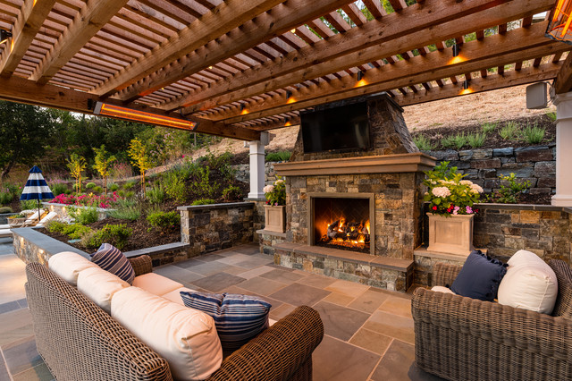 Pergola Pavilion with an Outdoor Kitchen and Living Room ... on Living Room Deck id=83712