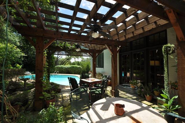 Classic patio in Austin.