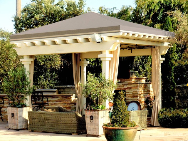 Pergola Roof Traditional Patio Los Angeles By