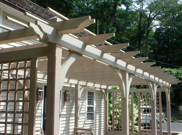 Pergola Farmhouse New York By Salisbury Artisans