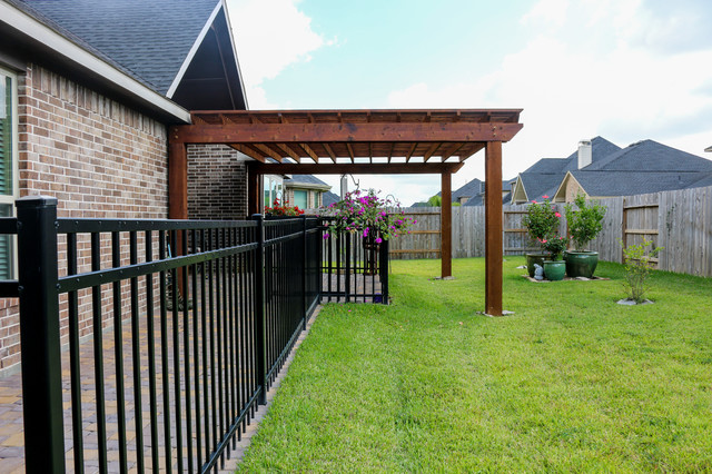 Pergola Structure In Katy Tx Traditional Patio