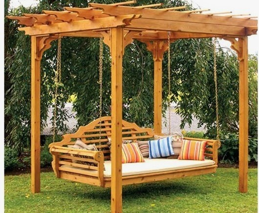 Pergola Swing Bed Traditional Patio