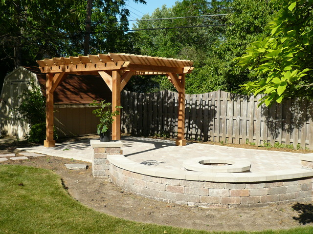 Pergolas And Pavers Traditional Patio Chicago By