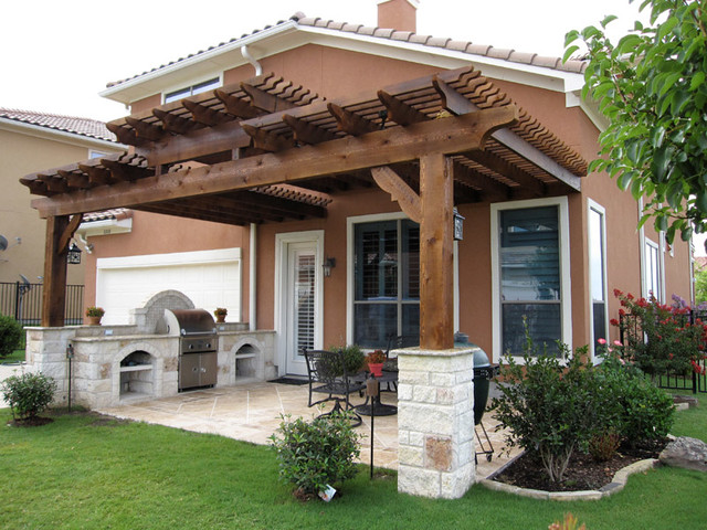 Pergolas traditional patio austin by centex decks for Pergola images houzz