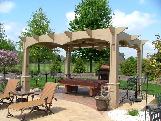 Pergolas contemporary patio cincinnati by ohio for Pergola images houzz