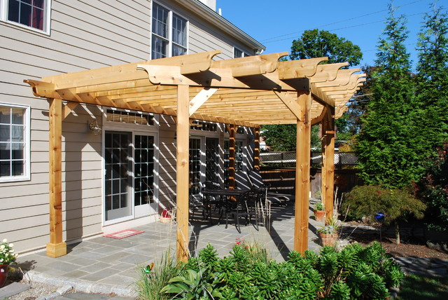 PergolasShade structures Traditional Patio  : traditional patio from www.houzz.com size 640 x 428 jpeg 138kB