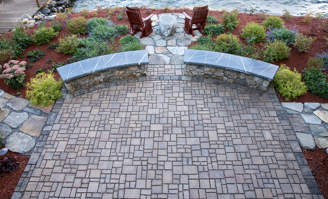 Permeable Paver Patio  Gilford NH traditional-patio