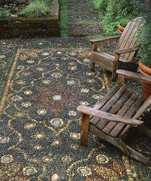 Persian Rug Mosaic Patio Photo by: Allan Mandell patio