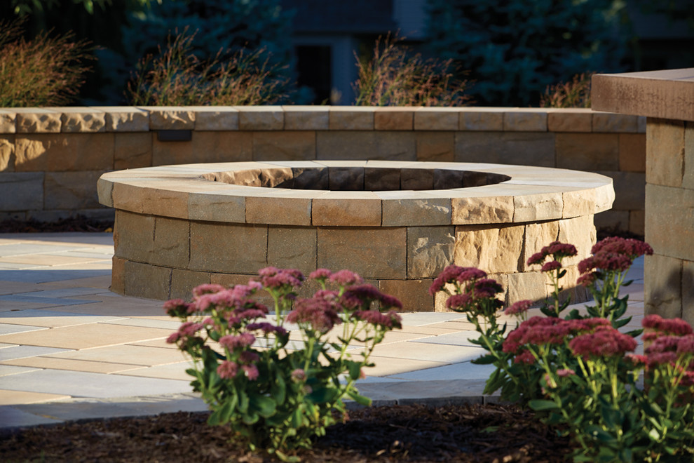 Picturesque Patio: fire pit created from concrete ...