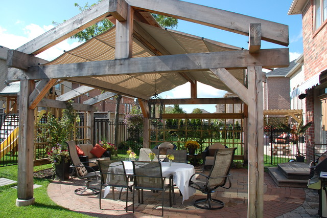 Pitched Canopies in Oakville, Ontario traditional-patio
