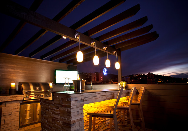 Pittsburgh Roof Deck Modern Patio Other Metro By