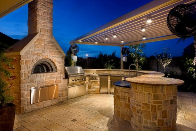 pizza oven outdoor kitchen by renato traditional