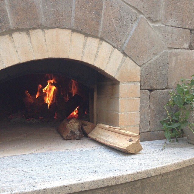 Pizza Oven With Outdoor Kitchen, Fire Pit And Pool Deck