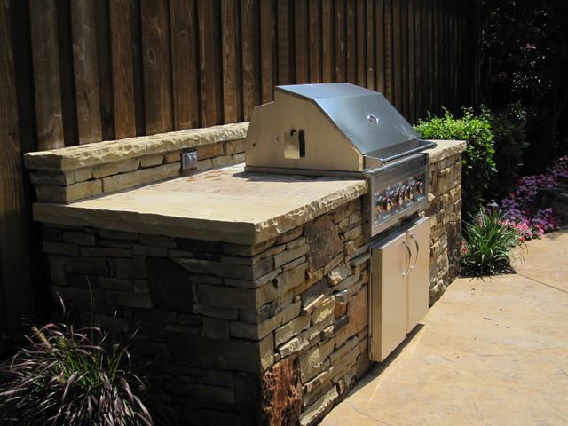 Plano Tx Dry Stack Stone Traditional Patio Dallas