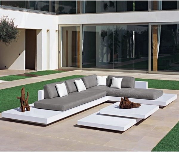 Amazing Platform Outdoor Sectional Sofa Contemporary Patio