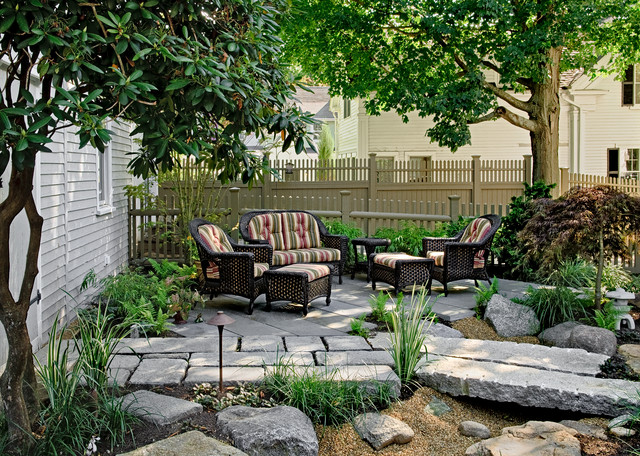 Pocket garden traditional patio portland maine by for Landscape design portland