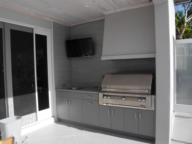 Polymer Board Cabinetry Modern Patio Miami By Paris Furnishings Inc