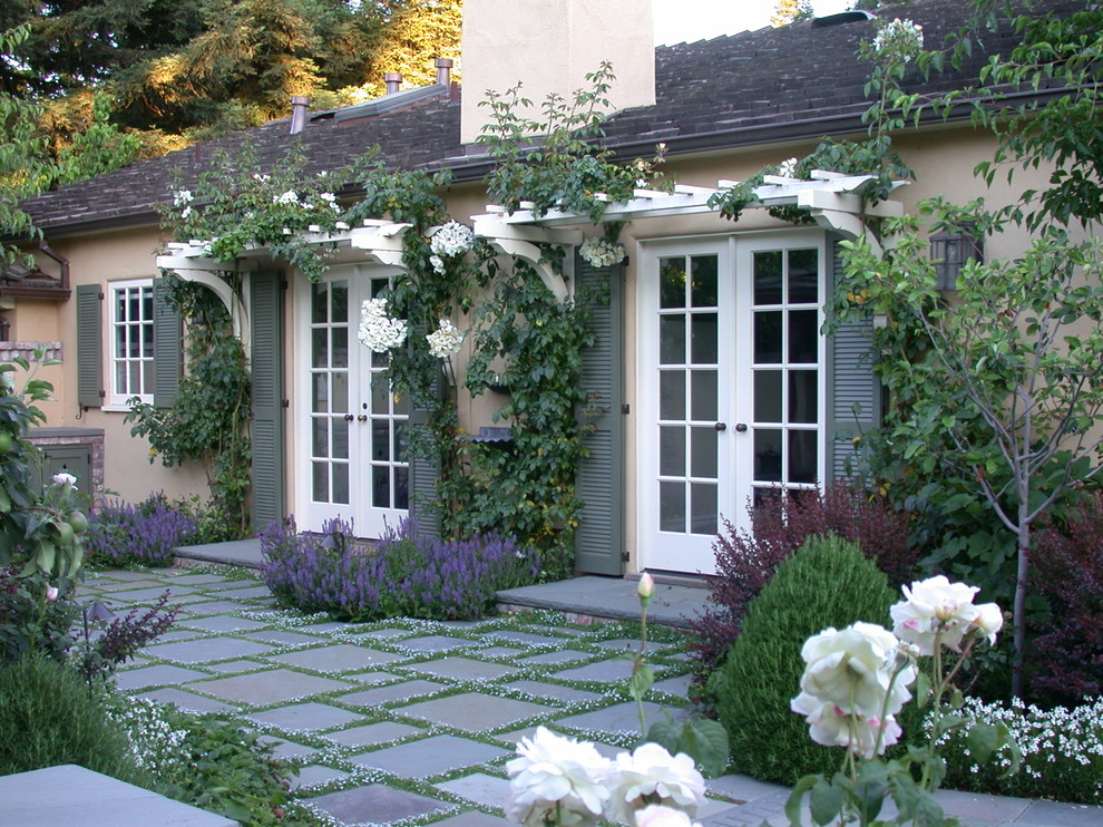 Inspiration for a mediterranean patio remodel in San Francisco with no cover