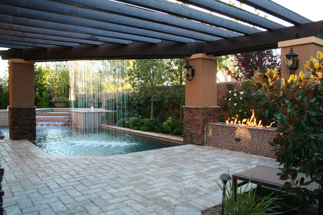 Patio Pool And Spa - Home Design Ideas and Pictures