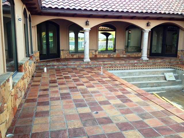 Saltillo Terracotta Tile Traditional Patio By Rustico Tile And