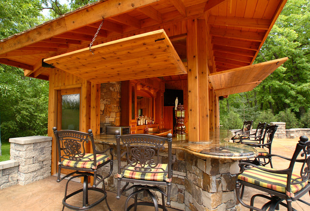 Pool Bar - Rustic - Patio - other metro - by Westwind ... on Outdoor Bar Patio Ideas id=52926