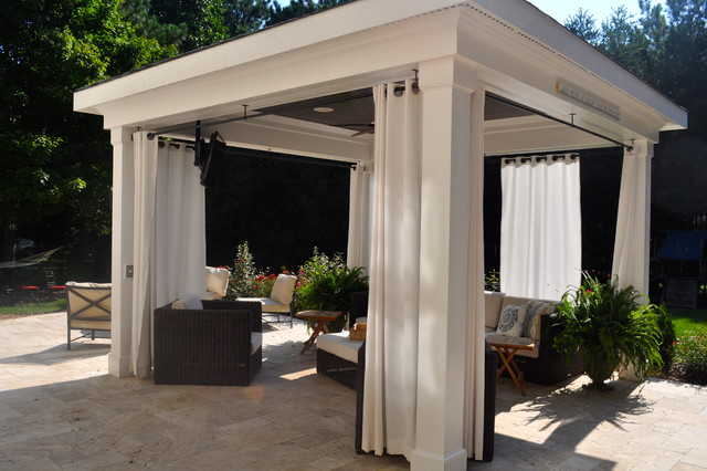 Attractive Pool Cabana Traditional Patio