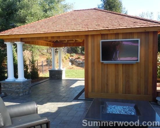Pool Cabanas traditional-patio