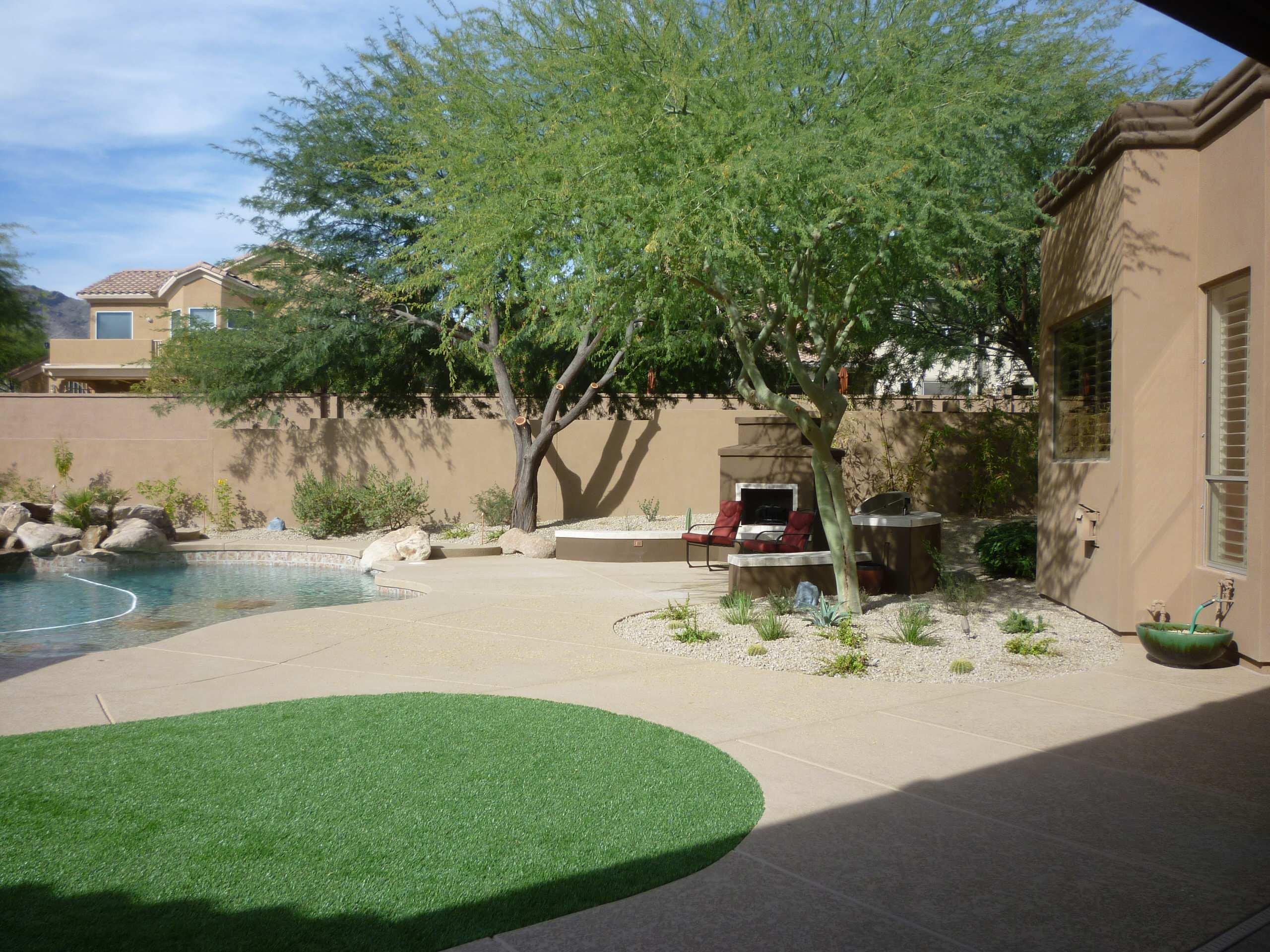 Pool Decking & Seating Area