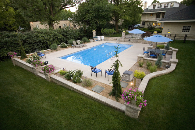 Pool hardscape contemporary patio cincinnati by for Pool and patio designs