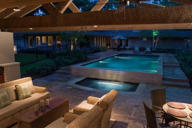 pool house contemporain terrasse et patio houston par exterior worlds landscaping design. Black Bedroom Furniture Sets. Home Design Ideas