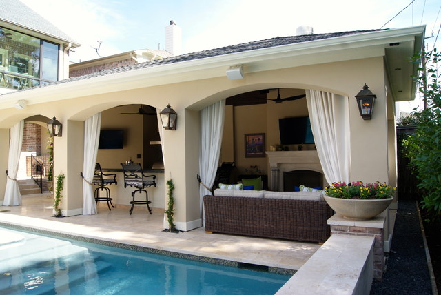 Beautiful Pool House Houston Area Traditional Patio