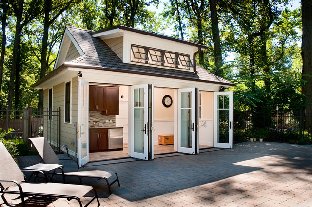 Pool house transitional patio philadelphia by j for Fine homebuilding houses