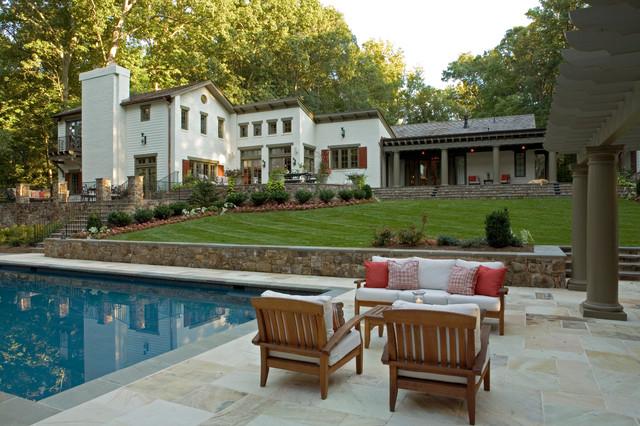 pool house - traditional - patio - dc metro