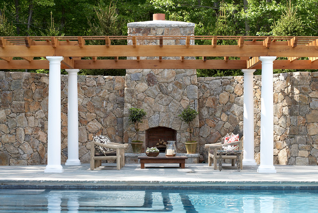 Pool Houses and Outdoors Environments traditional-patio